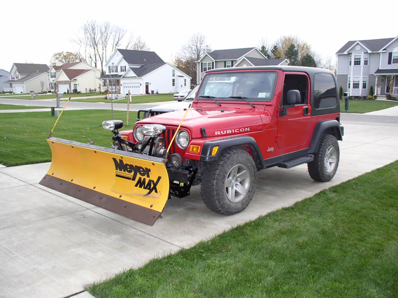 Jeep Wrangler Snow Plow Plowing With A Jeep Wrangler Rubicon Trail Ride . Jeep  Wrangler Snow Plow ...
